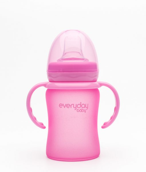 Sippy Cup-Pink-With lid